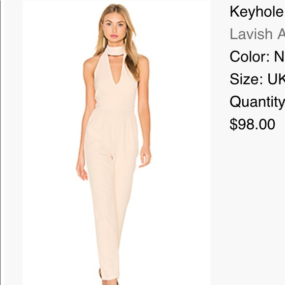 dffa325ab5c9 Lavish Alice Other | New Nude Keyhole Jumpsuit Ordered From Revolve ...